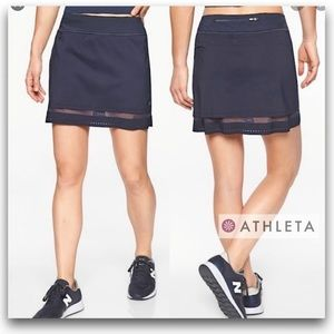 💥Athleta Laser Run Skirt/Skort-Black-Phone Pocket